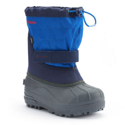 NEW Columbia Powderbug Plus II Toddler Boys 6T Blue Waterproof Winter Boots