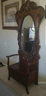 Large Haunted Entry Bench Chair With Storage