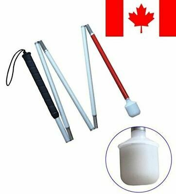 Aluminum mobility folding cane for the blind (folds down 5 sections) (120 cm ...