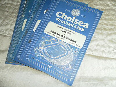 Chelsea Home Programmes From 1955/6