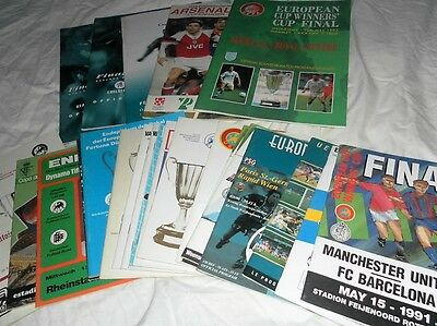 European Cup Winners Cup Final Programmes 1975 - 99 Choose From List
