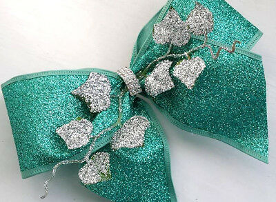 1m 65mm WIRED,CHRISTMAS RIBBON MESH,SILVER GLITTER SPARKLY TREE,GIFT BOW,CAKE