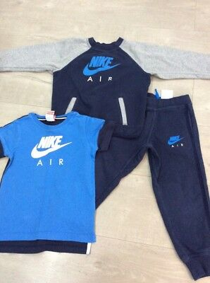 Blue Grey Nike Tracksuit Size 4 - 5 years tracki T Shirt hoody joggers Top