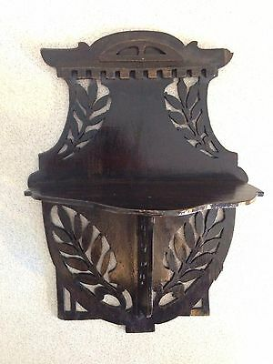 Shabby Chic Decorative Wooden Antique Wall Hanging Candle/ Plant Shelf