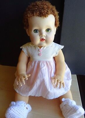 """Vintage American Character Doll 18""""  Tiny Tears 2675644 Caracal Wig"""