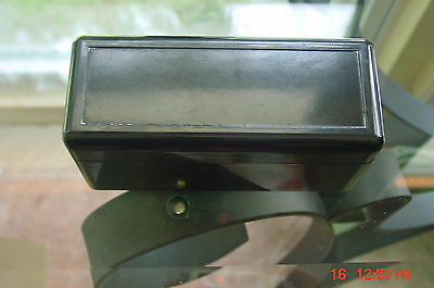 Stereo-Tach Thick Heavy Bakelite  Box with slides and viewer