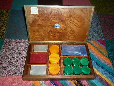 Dal Negro Carte Treviso Set 128 Gaming Chips in Jazzy Colours in Smart Wood Box