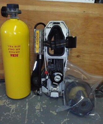 Scott AP50  NFPA   1997 2216  PSI LOW PRESSURE  SCBA WITH AV3000  FACE MASK