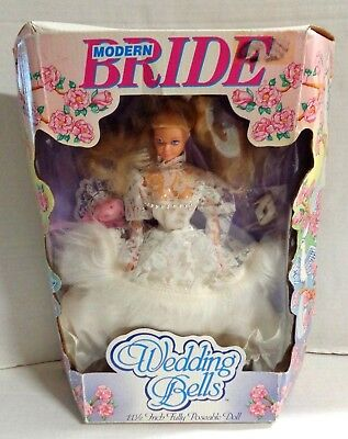 Modern Bride Wedding Bells 11 1/2 Poseable Doll Style 6009 1990 with Box