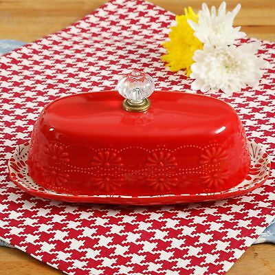 The Pioneer Woman Floral Bursts 8-Inch Butter Dish