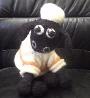 *new* Shaun The Sheep Knitted Soft Toy With Jumper