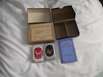 Vintage 1933 De La Rue Playing Cards Twin Pack Boxed/New Wills Cigarettes Sealed