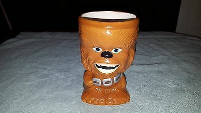 "Star Wars Chewbacca Goblet Bust Drinking Glass Cup Mug 5 3/4"" Tall Brown 2012"