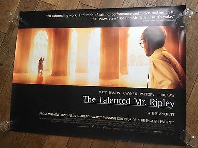 The Talented Mr Ripley Original Uk Quad Poster Rare Version