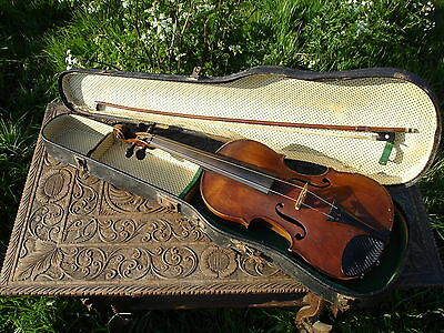 Stradivarius Violin Antique Corelli Violin Bow & Vintage Violin Case
