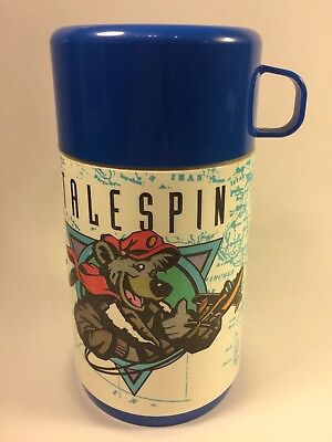Vintage Disney TAILSPIN Thermos Drink Holder Aladdin 1980's Complete