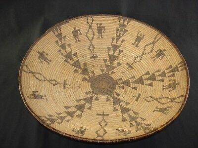A very nice Apache figured basket, American Indian Basket, circa: 1915
