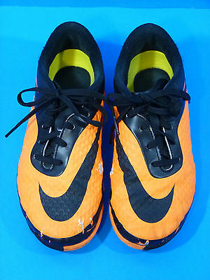 Nike Hypervenom Orange Soccer Indoor Shoes Youth Size 4.5 (pre-owned)