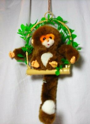 Popo Pocket Monkey Rocking Animated Plush squawks mouth moves Original Box Iwaya