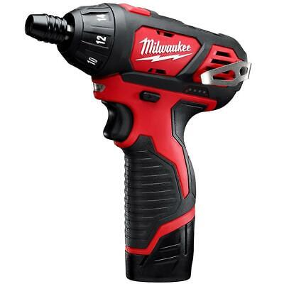 Milwaukee 2401-22 M12 12-Volt 1/4-Inch Hex Screwdriver w/ Batteries