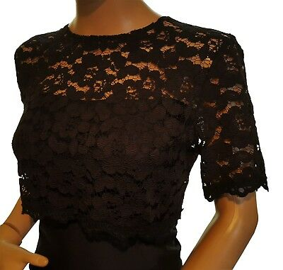 da donna nero corto Design pizzo mezza manica Bolero, Giacca Sizes 8 to 18
