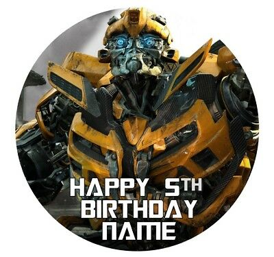 Transformers Personalised Edible Icing Cake Topper 19cm PRE-CUT Birthday Party