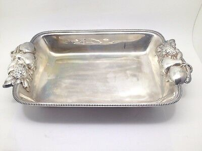 Portugal Silverplate Fruit Bowl With Fruit Design