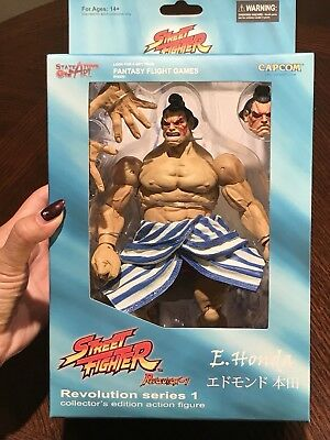 New! Street Fighter Revolution Series 1, E. Honda Action Figure By SOTA Toys!