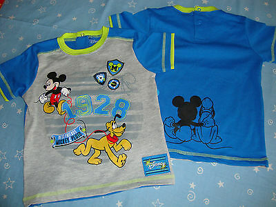 Disney Mickey Mouse & Pluto Shirt Graphics Front & Back