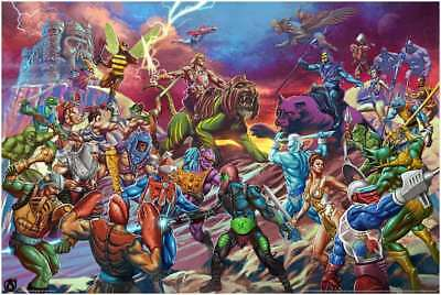 MASTERS OF THE UNIVERSE BATTLE FOR GRAYSKULL Limited edition print #150 24x36