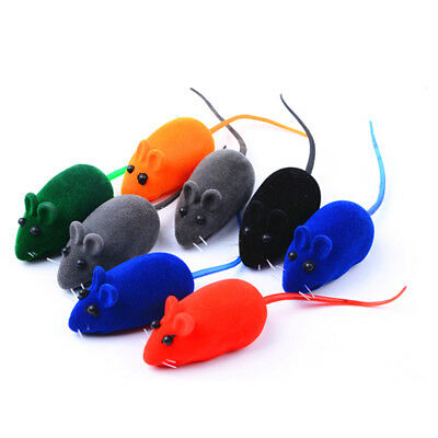 2pcs Cat Kitten Pet Play Toy Cute Mouse Squeak Sound Funny Rat Playing Toys Hot