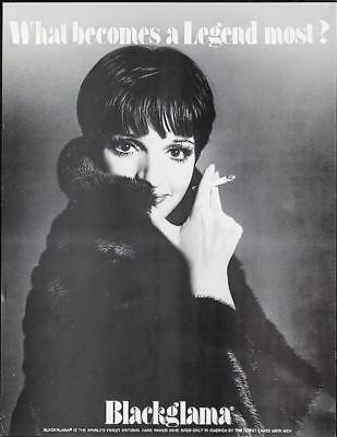 BLACKGLAMA LIZA MINNELLI Vintage advertising poster MINK FUR COAT 17x22 Mint
