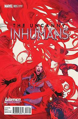 Uncanny Inhumans 6 Women of Power variant cover Marvel incentive Sienkiewicz