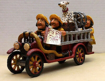 """David Frykman """"days Gone By"""" Antique Firetruck, Item #df3914 Limited To 3500"""