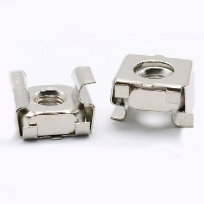 Latest 20PCS Cage Nuts M4 M5 M6 M8 Square Mounting Captive Nut Fastening Parts