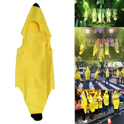Unisex Banana Fruit Costume Halloween Fancy Dress Stage Party Novelty Outfit