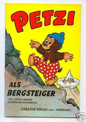 Petzi as Mountaineer gb. Carlsen Publisher 50Jahre
