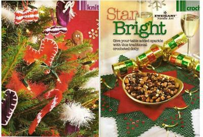 Original Patterns: Lovely Christmas Crafts Crochet Table Mat & Knitted Ornaments