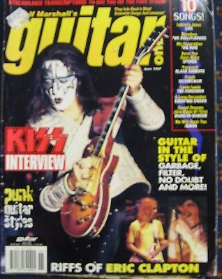 Guitar One Magazine June 1997 Ace Frehley on the cover