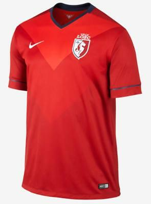 Nike Mens Lille OSC LOSC Football Soccer Home Jersey Shirt 2014 2015 Red