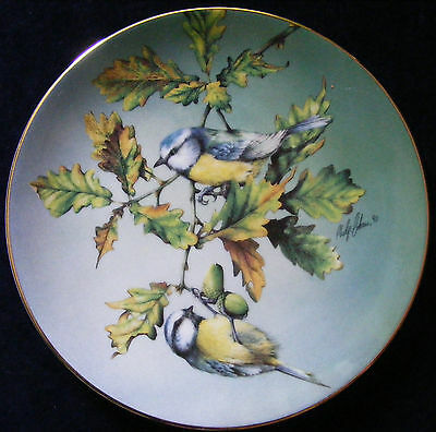 "Hamilton Collection 8.5"" Plate Colourful Birds of Britain Blue Tit - See Photos"