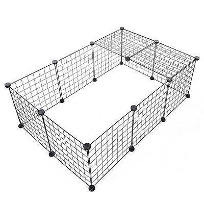 Pet Dog Puppy 6 Panels Metal Wire Fence DIY Assemble Exercise Yard In/Outdoor