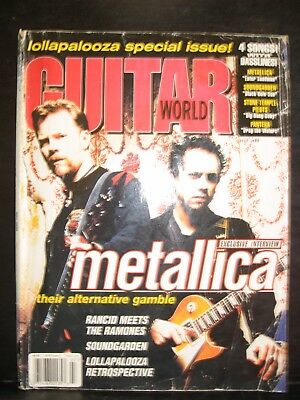 Guitar World Magazine July 1996 Metallica on the cover