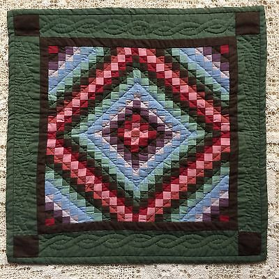 Stunning Trip Around the World Miniature Quilt  ~  41 cm x 42  cm Approx.    OOK