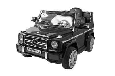 KIDS RIDE ON CAR MERCEDES BENZ G65 12V Electric Battery BLACK RC + charger