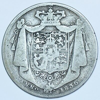 1836 HALFCROWN BRITISH SILVER COIN FROM WILLIAM IIII aF