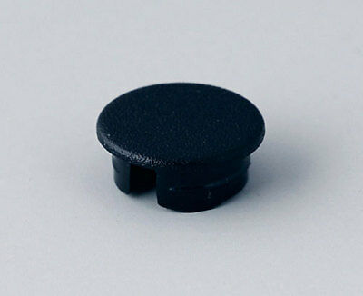 8x A4110000 Cap ABS black push-in Application A2609 Shape round OKW