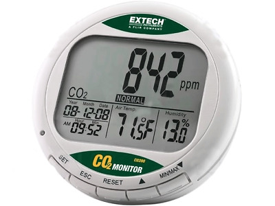 1x CO200 CO2 monitor Range0÷9999ppm  CO2 -10÷60°C EXTECH