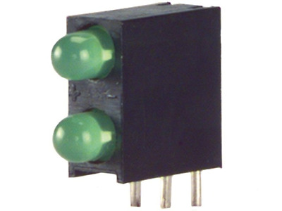4x L-934EB/2GD Diode LED in housing 3mm THT green 8-32mcd 60° Front