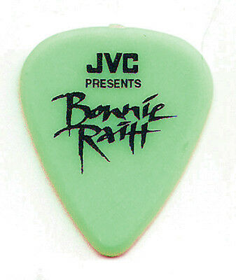 Bonnie Raitt Signature Green JVC Guitar Pick - 1990s Tours